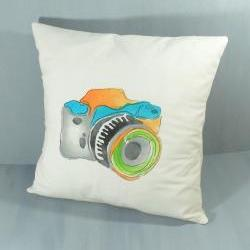 Quirky camera cushion