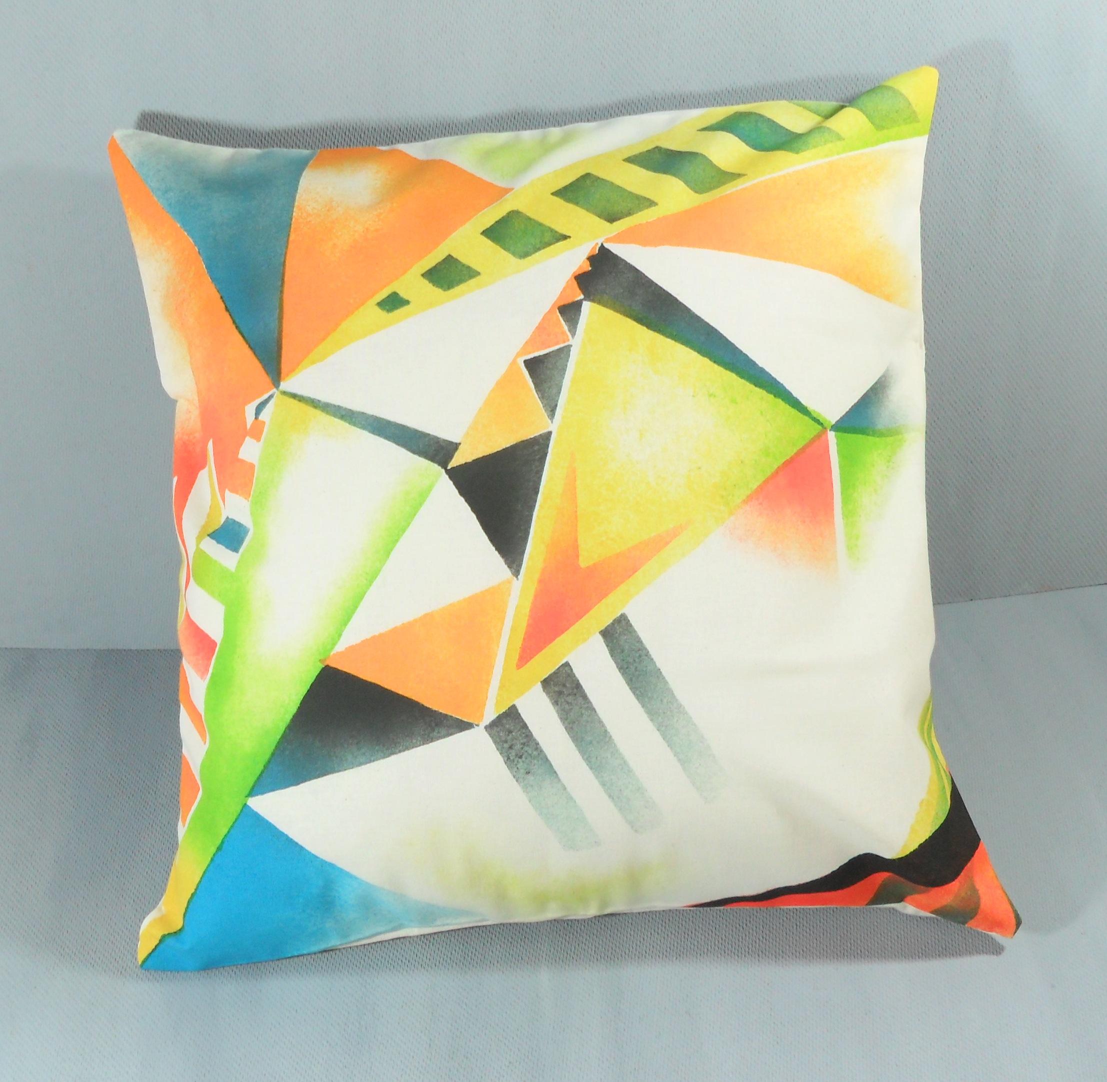 Modern Geometric Pillows : Modern Bright Geometric Pillow on Luulla